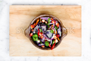 Aerial View of a Healthy Salad - Symbiostock Express Demo