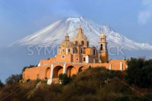 Monastery and Popocatepetl Volcano - Symbiostock Express Demo