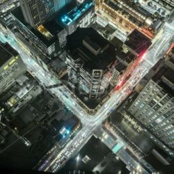 Aerial of Cityscape Lights - Symbiostock Express Demo